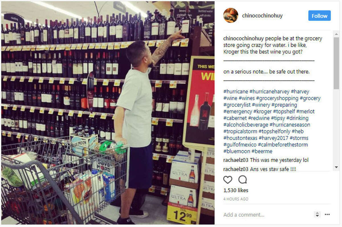 chinocochinohuy people be at the grocery store going crazy for water. i be like, Kroger this the best wine you got?