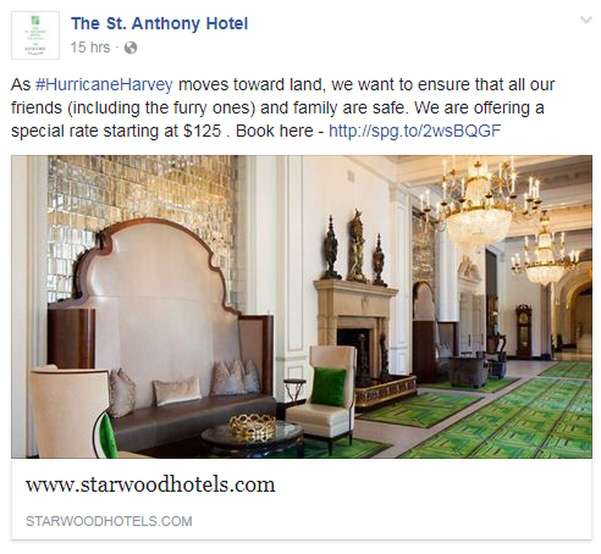 The St. Anthony Hotel The downtown San Antonio hotel is offering special rates starting at $125 and