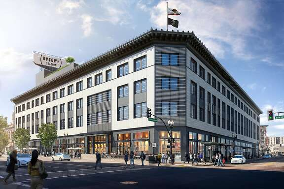 Uber has purchased Oakland's moribund Sears building and will open an East Bay global headquarters there in 2017. A rendering of the exterior. Please credit both Steelblue and Gensler