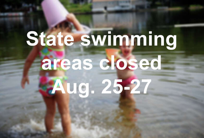 Click through the slideshow to see what state beaches and parks have closed swimming areas this weekend due to high bacteria count or blue algae.