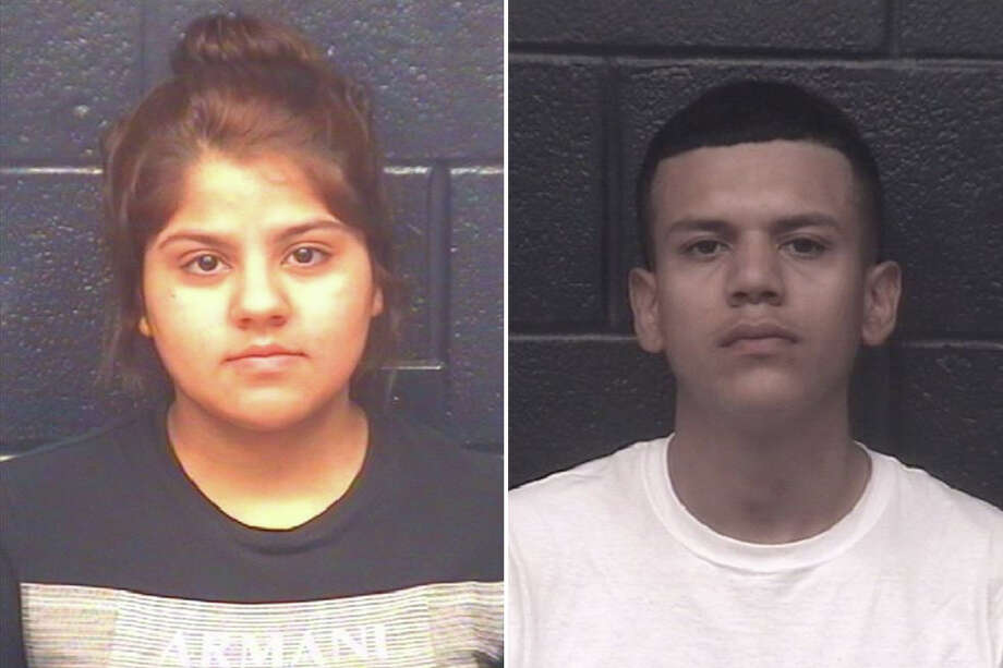 Jocelyn Mota and Ivan Gonzalez were arrested in connection with a human smuggling attempt, according to Laredo police. Photo: Webb County Sheriff's Office