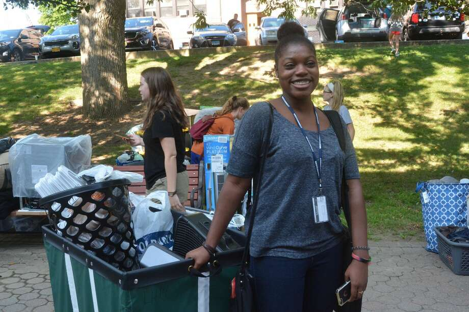 Western Connecticut State University students moved onto the Danbury campus on August 25, 2017. Were you SEEN? Photo: Vic Eng / Hearst Connecticut Media Group