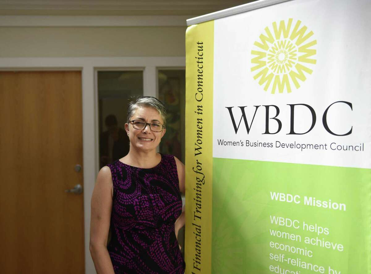 Women's Business Development Council CEO Fran Pastore poses at the WBDC office in Stamford, Conn., on Thursday, Aug. 17, 2017.