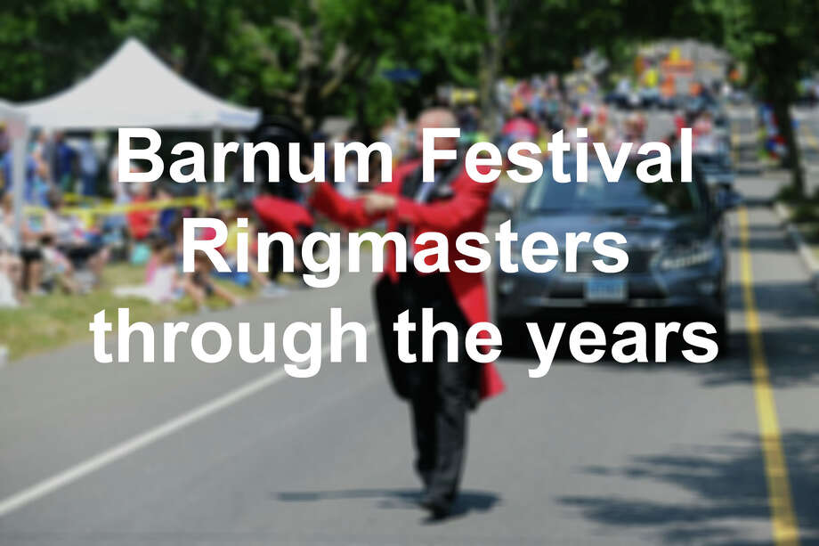 Click through the slideshow to see ringmasters for the Barnum Festival through the years.  / Stamford Advocate