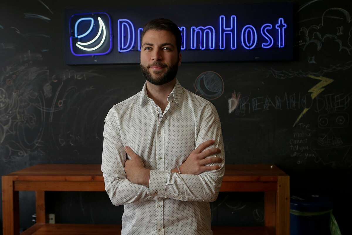 Christopher Ghazarian, general counsel of DreamHost, is photographed on Aug. 16, 2017 at his office in Los Angeles. DreamHost is fighting federal subpoena for information on web visitors to anti-Trump web site.