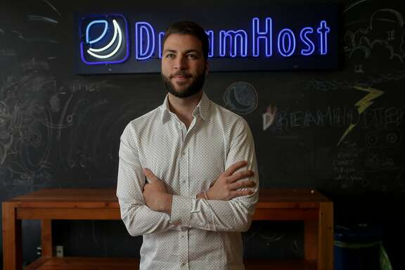 Christopher Ghazarian, general counsel of DreamHost, is photographed on Aug. 16, 2017 at his office in Los Angeles. DreamHost is fighting federal subpoena for information on web visitors to anti-Trump web site. Web hosting company DreamHost said that it would not comply with the U.S. Justice Department's request for data on more than 1 million visitors to a site it hosts. (Irfan Khan/Los Angeles Times/TNS)