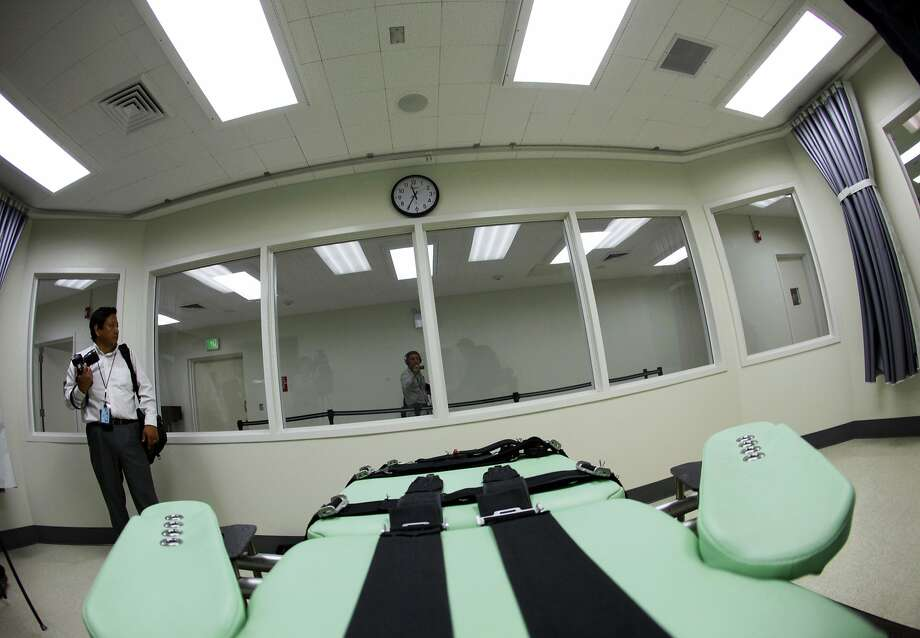 "FILE - This Sept. 21, 2010 file photo shows an inmate's view of the interior of the lethal injection facility at San Quentin State Prison in San Quentin, Calif. The California Supreme Court upheld a ballot measure narrowly approved by voters to change the state's dysfunctional death penalty system and speed up executions. The highly anticipated ruling Thursday, Aug. 24, 2017 concerned Proposition 66, a push to ""mend not end"" capital punishment in California. (AP Photo/Eric Risberg, File) Photo: Eric Risberg, Associated Press"