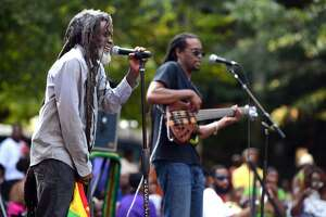 The 9th annual Jerk Fest Saturday, Aug. 15, 2015, featuring Caribbean food and reggae music on McLevy Green in downtown Bridgeport, Conn.