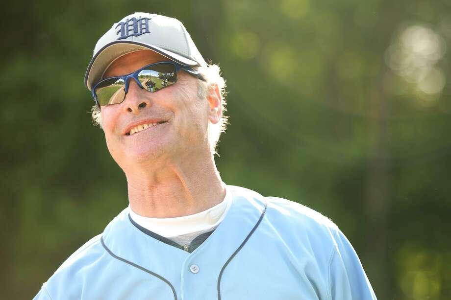 Wilton High School Baseball Coach Tim Eagen after his 400th careeer win on Friday, May 12, 2017. Photo: Chris Palermo / For Hearst Connecticut Media / Norwalk Hour Freelance