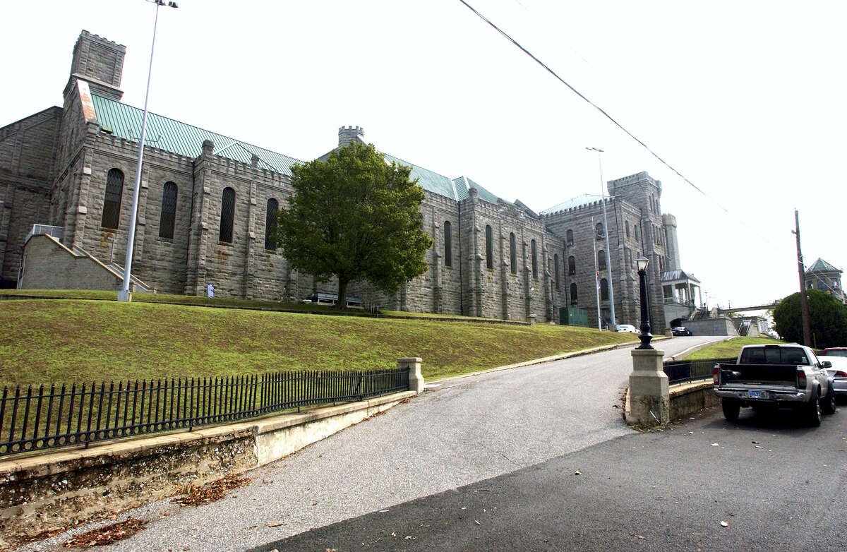 In this Sept. 10, 2007, file photo shows, the Kentucky State Penitentiary in Eddyville, Ky. Officials say Friday, June 30, 2017, that Kentucky's only maximum security prison is on lockdown after inmates attacked eight workers. Department of Corrections spokeswoman Lisa Lamb told media that 16 inmates attacked the workers Thursday afternoon near a canteen line in the yard of the Kentucky State Penitentiary.