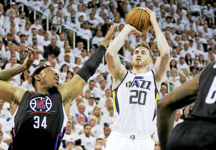 Utah Jazz forward Gordon Hayward is one of the big prizes on the NBA free-agent market. Photo: Rick Bowmer — The Associated Press  / Copyright 2017 The Associated Press. All rights reserved.