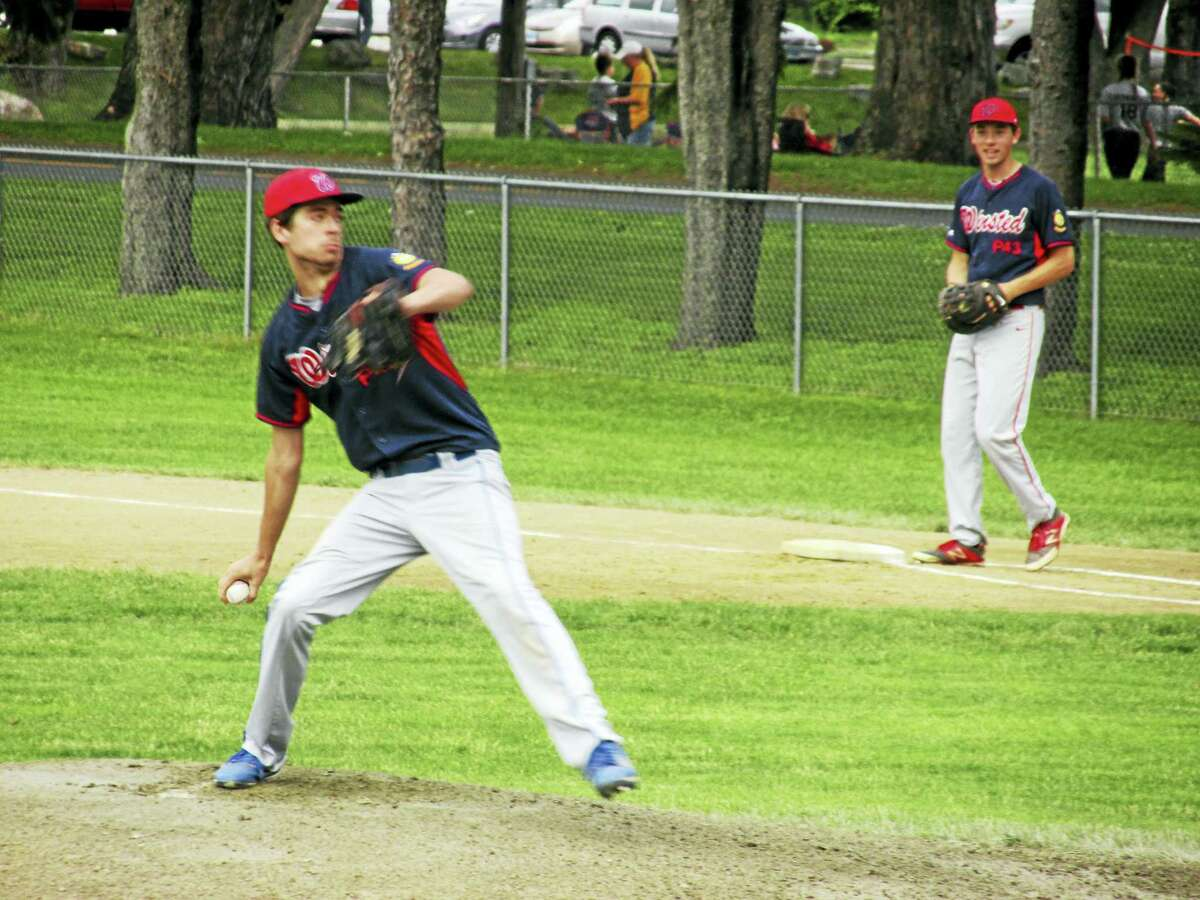 Photo by Peter Wallace Winsted's Ryan Sholtis gave up just two hits in Thursday's American Legion baseball game against Zone I leader Avon.