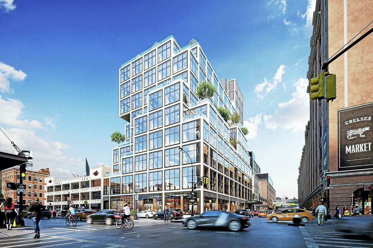 Aetna's planned new headquarters at 61 Ninth Ave. in New York City. (Rendering courtesy of Aetna)