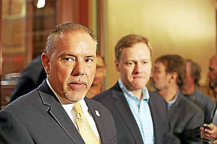 House Speaker Joe Aresimowicz and House Majority Leader Matt Ritter. Photo: Christine Stuart / CTNewsJunkie