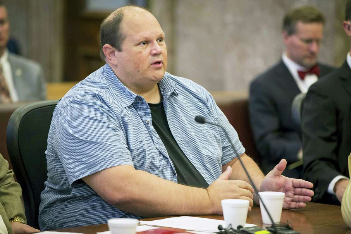 Eddie Tipton, the cyber security expert and brainpower behind a lottery rigging scandal that netted $2 million in illegal winnings from five state lotteries pleaded guilty Thursday, June 29, 2017, to a felony charge of ongoing criminal conduct charge at the Polk County Courthouse in Des Moines, Iowa. Tipton and his brother, Tommy Tipton will repay $3 million in prizes they improperly claimed as part of a plea agreement they've reached with prosecutors in Iowa and Wisconsin.