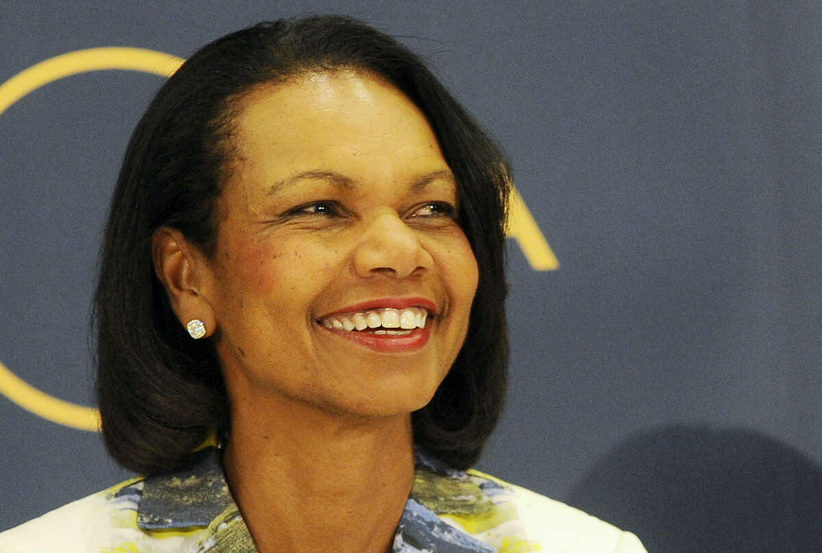 In this June 29, 2016, file photo, Former U.S. Secretary of State Condoleezza Rice attends a public debate on democracy and the aftermath of the British departure from the EU, in Warsaw, Poland. Rice told CNBC on June 28, 2017, that President Donald Trump will stand up for both American interests and values on the world stage.