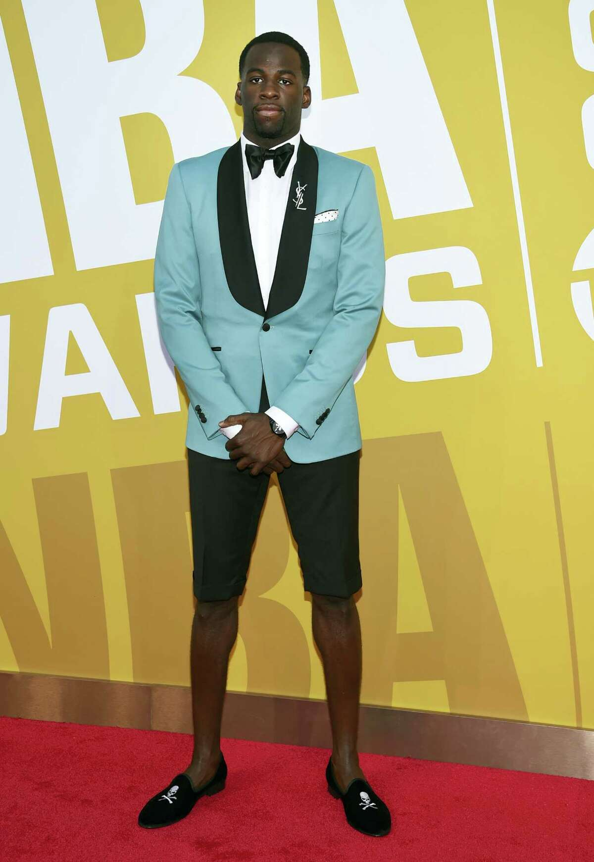 NBA player Draymond Green, of the Golden State Warriors, arrives at the NBA Awards at Basketball City at Pier 36 on Monday, June 26, 2017, in New York. (Photo by Evan Agostini/Invision/AP)