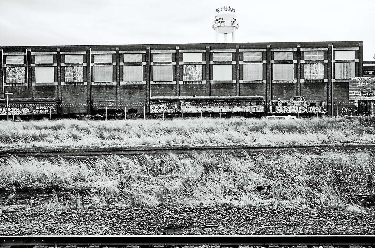 Trains-Returning-2016: Laure Dunne, Train Returning, 2016, Digital print. Dunne's photographs are on exhibit at the Mattatuck Museum in Waterbury, with an opening reception on July 30.