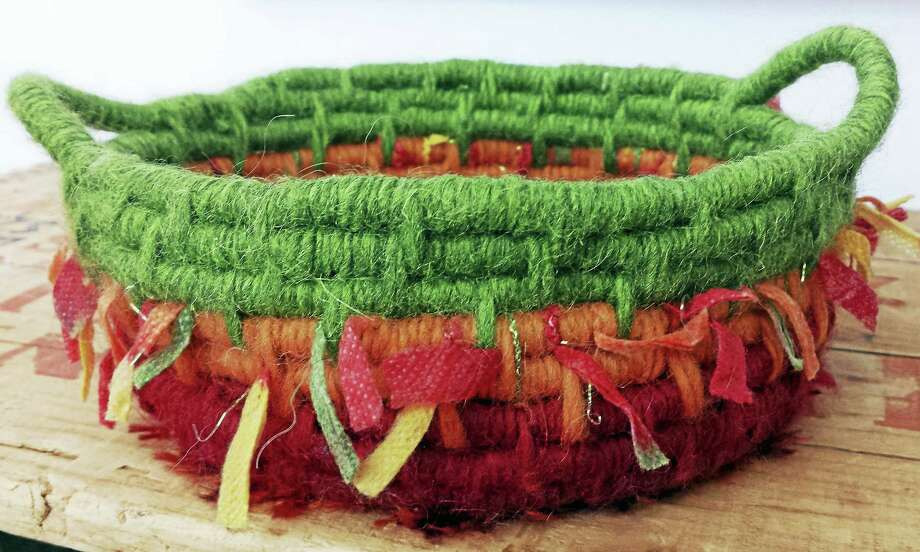 A felted basket. Photo: Photo By Ginger Balch