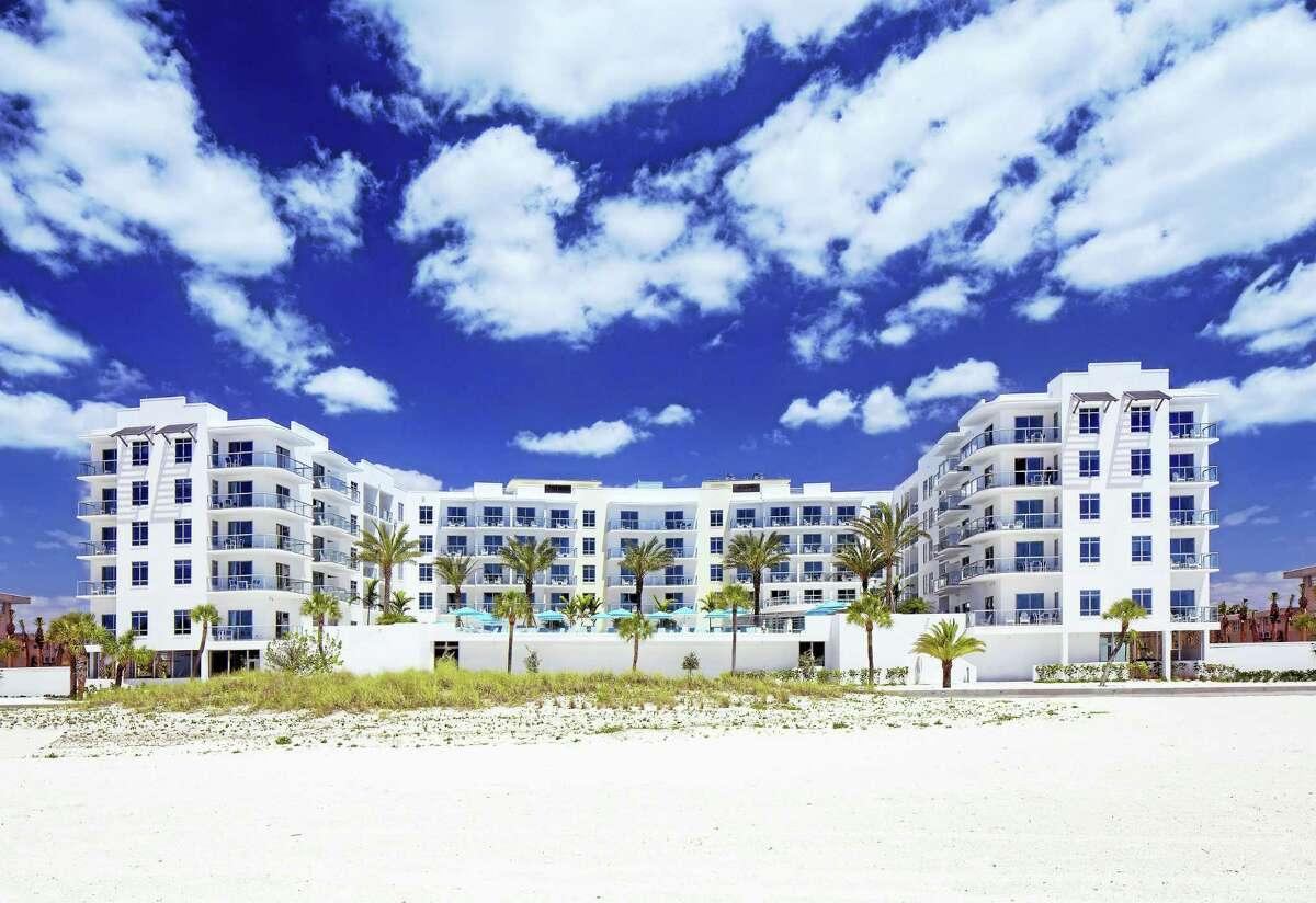 The exterior of the Treasure Island Beach Resort located on Florida's Gulf Coast.
