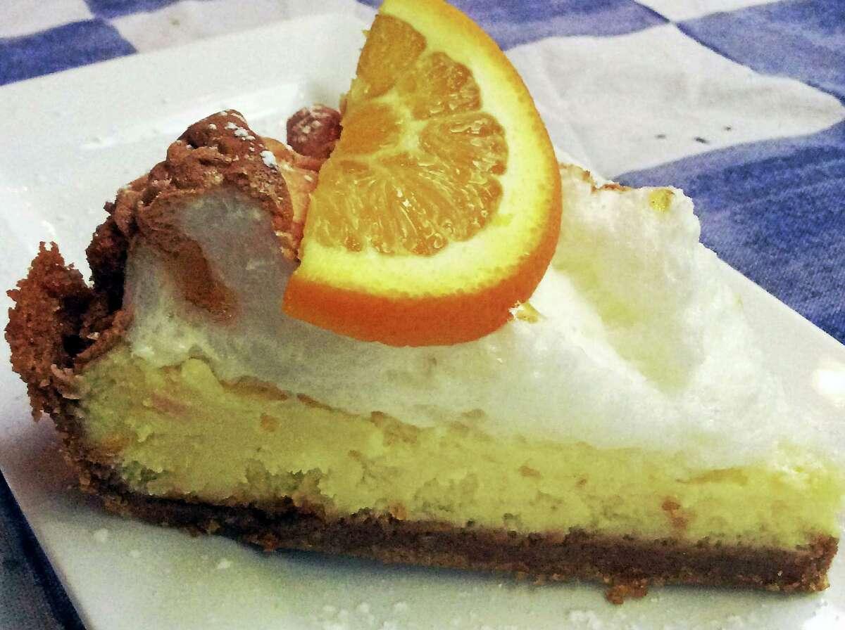 The Florida sour orange pie from Pia's Trattoria.