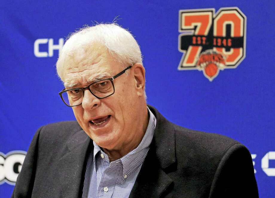 New York Knicks president Phil Jackson has intimated that the team will hang on to Kristaps Porzingis. Photo: Julie Jacobson — The Associated Press  / Copyright 2017 The Associated Press. All rights reserved.
