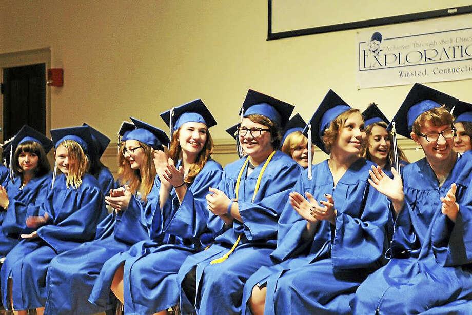 Explorations Charter School held its class of 2017 graduation on June 23, 2017. Photo: Ben Lambert / Hearst Connecticut Media