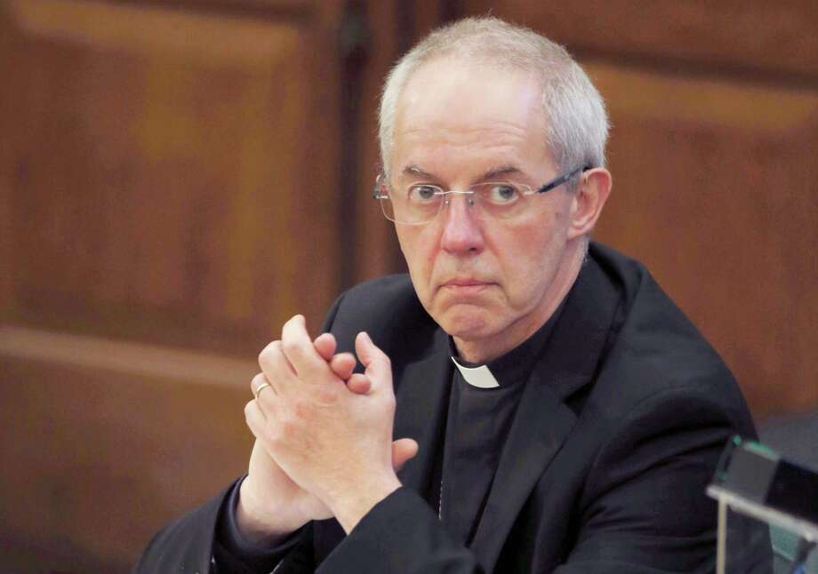 "This is a Monday, Feb. 13, 2017, file photo of the Archbishop of Canterbury Justin Welby as he listens to debate at the General Synod in London. Welby the head of the Church of England  said Thursday June 22, 2017, that the institution ""colluded"" with and helped to hide the long-term sexual abuse of young men by one of its former bishops. Photo: AP Photo/Alastair Grant/File   / Copyright 2017 The Associated Press. All rights reserved."