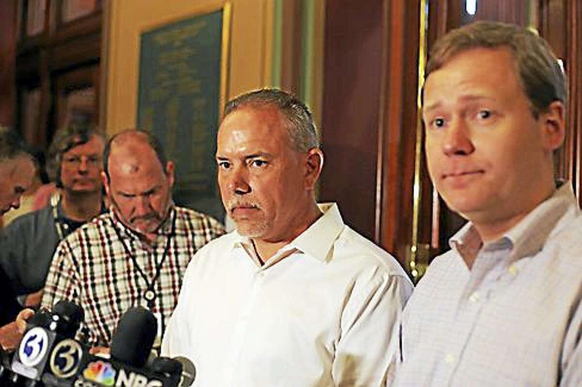 House Speaker Joe Aresimowicz and House Majority Leader Matt Ritter