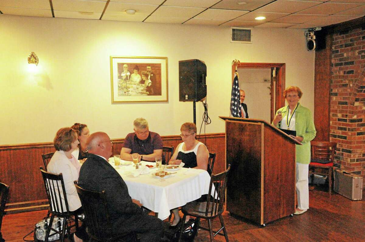 Winsted resident Milly Hudak was recognized with the Paul Harris Award by the Torrington-Winsted Area Rotary Club.