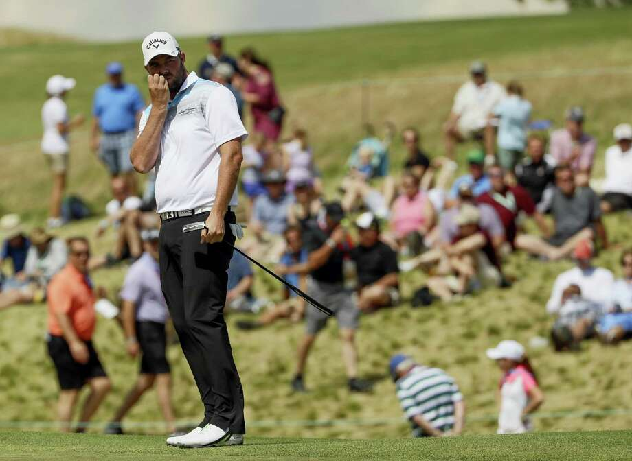 Marc Leishman, of Australia, watches his putt on the ninth hole during the fourth round of the U.S. Open golf tournament Sunday at Erin Hills in Erin, Wis. Photo: David J. Phillip - The Associated Press  / Copyright 2017 The Associated Press. All rights reserved.