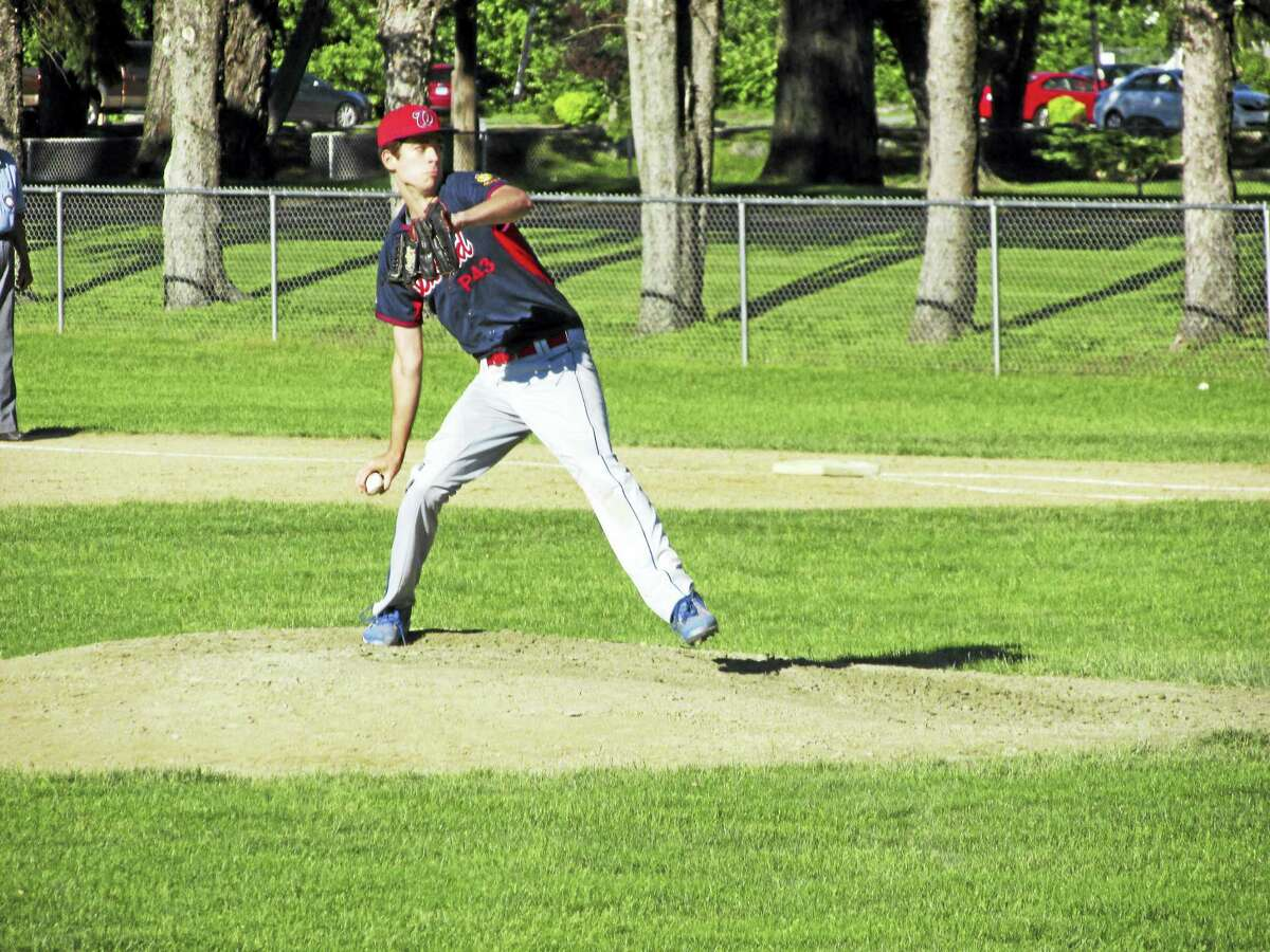 Ryan Sholtis hung in for the complete-game American Legion baseball win for Winsted's Post 43 over Bristol Tuesday afternoon.