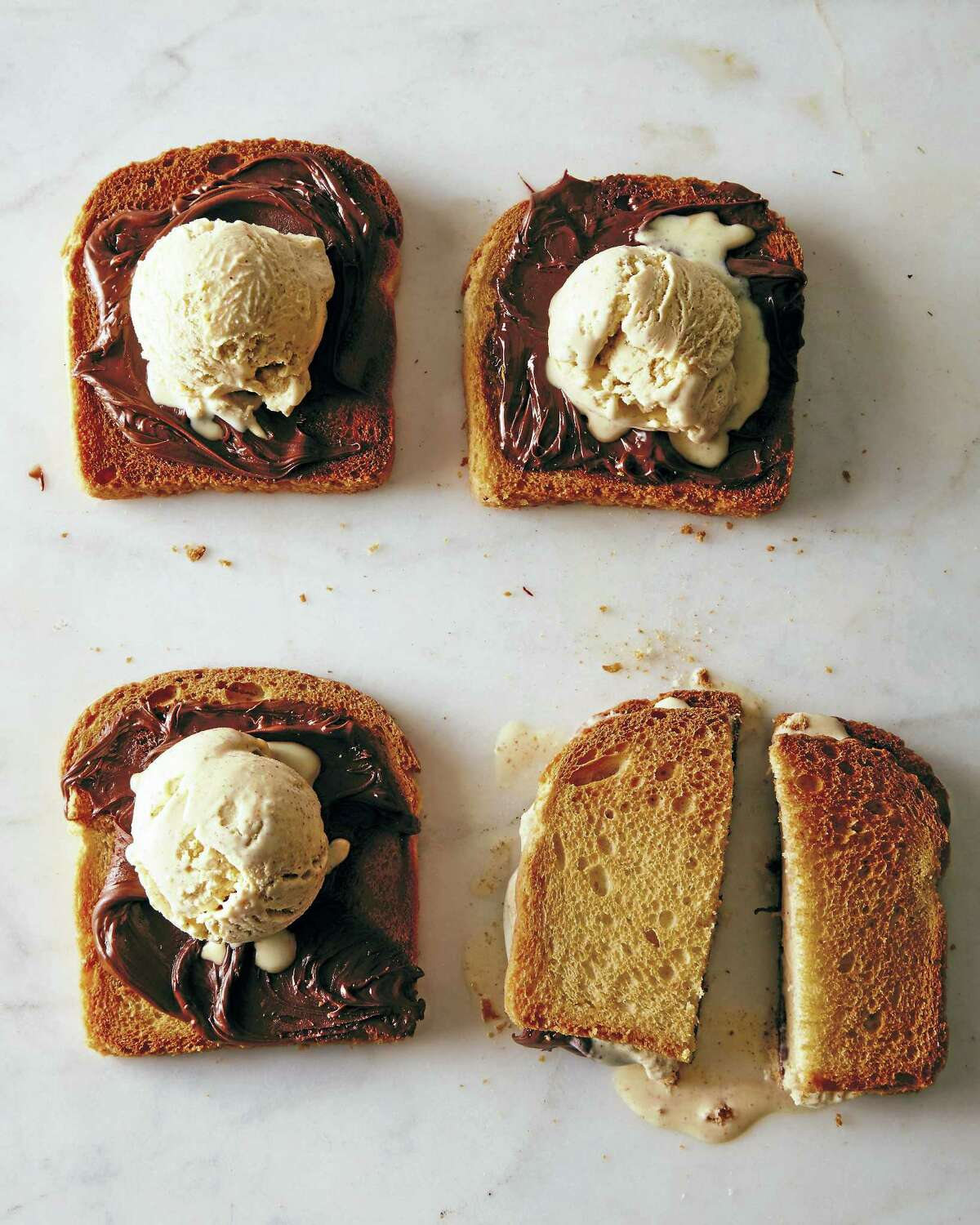 Burnt toast ice cream.