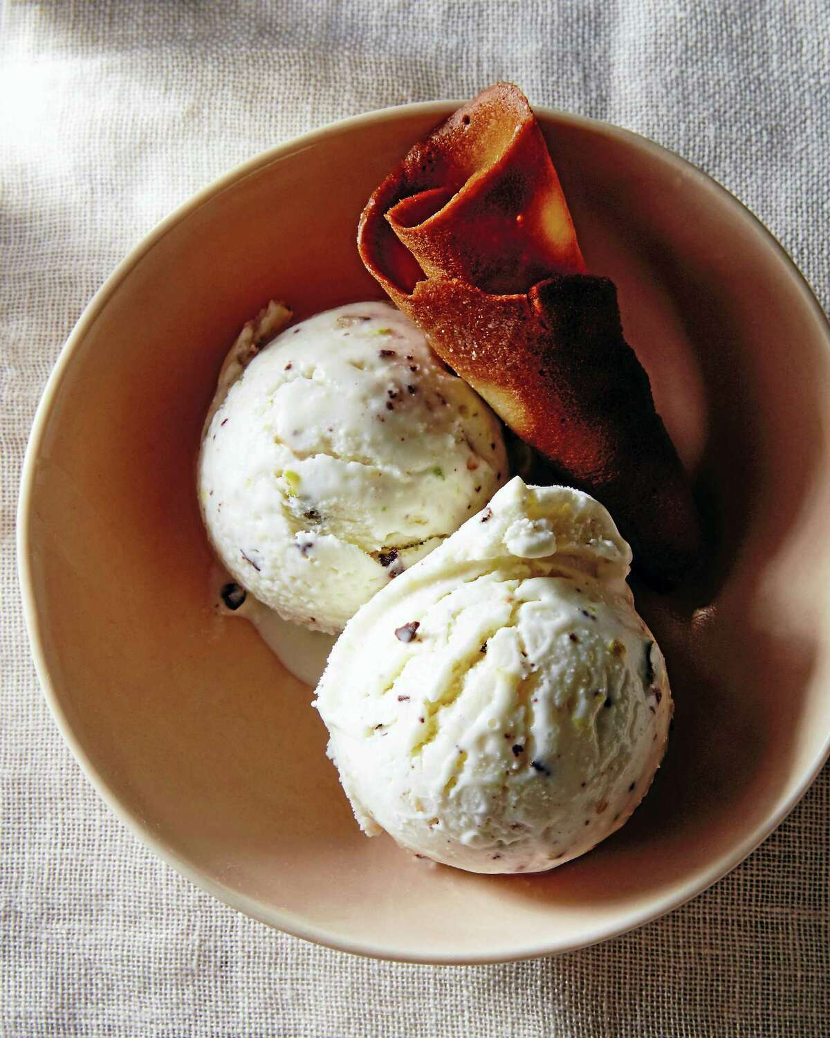 Fresh ricotta ice cream.