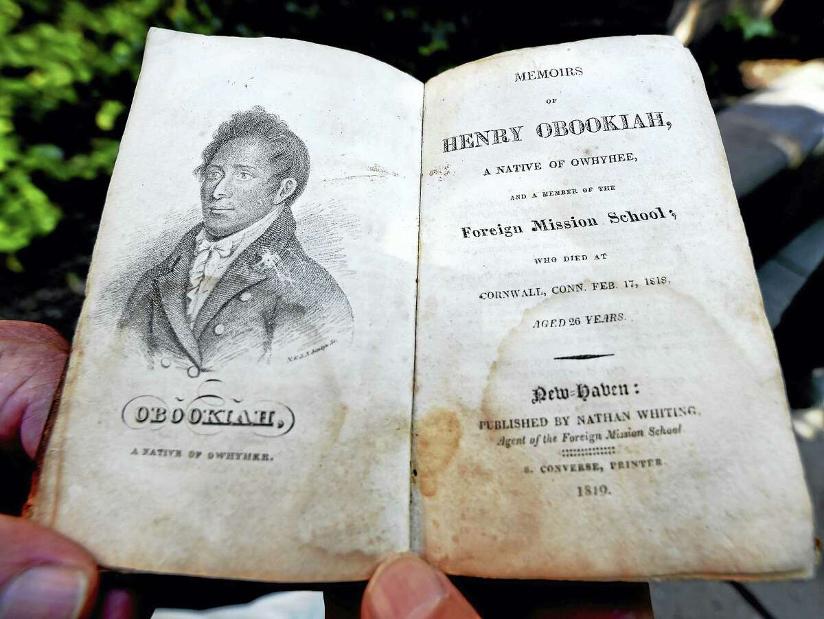 """The Memoirs of Henry Opukaha'ia,"" published in 1819 in New Haven.."