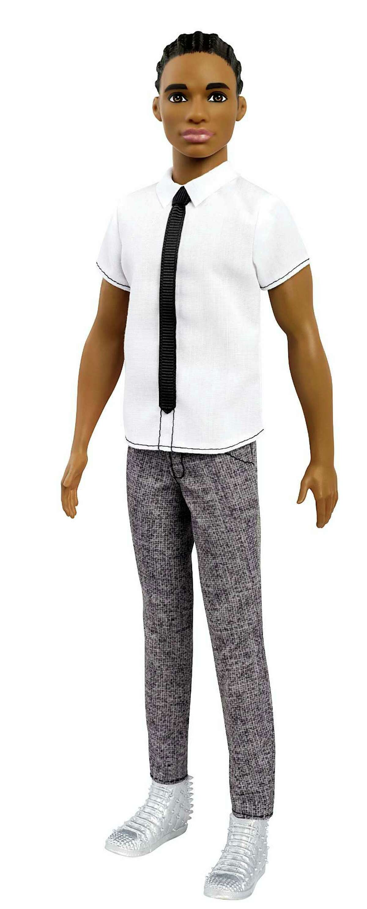 This photo provided by Mattel shows an African-American, original-style Ken doll, with cornrows. Mattel announced Tuesday, June 20, 2017, that the company is introducing 15 new looks for the male doll, giving him new skin tones, body shapes and hair styles. The makeover is part of the toy company's plan to make its dolls more diverse and try to appeal to today's kids, many of whom would rather pick up an iPad than a doll. Barbie received a similar overhaul more than a year earlier. (Courtesy of Mattel via AP)