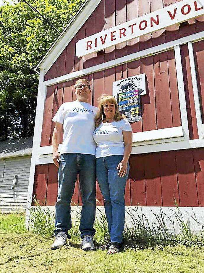 Darcy and Ron Abbott at the Riverton fairgrounds, where the Still River Music Festival will be held on Saturday. Photo: Photos By J. Timothy Quirk