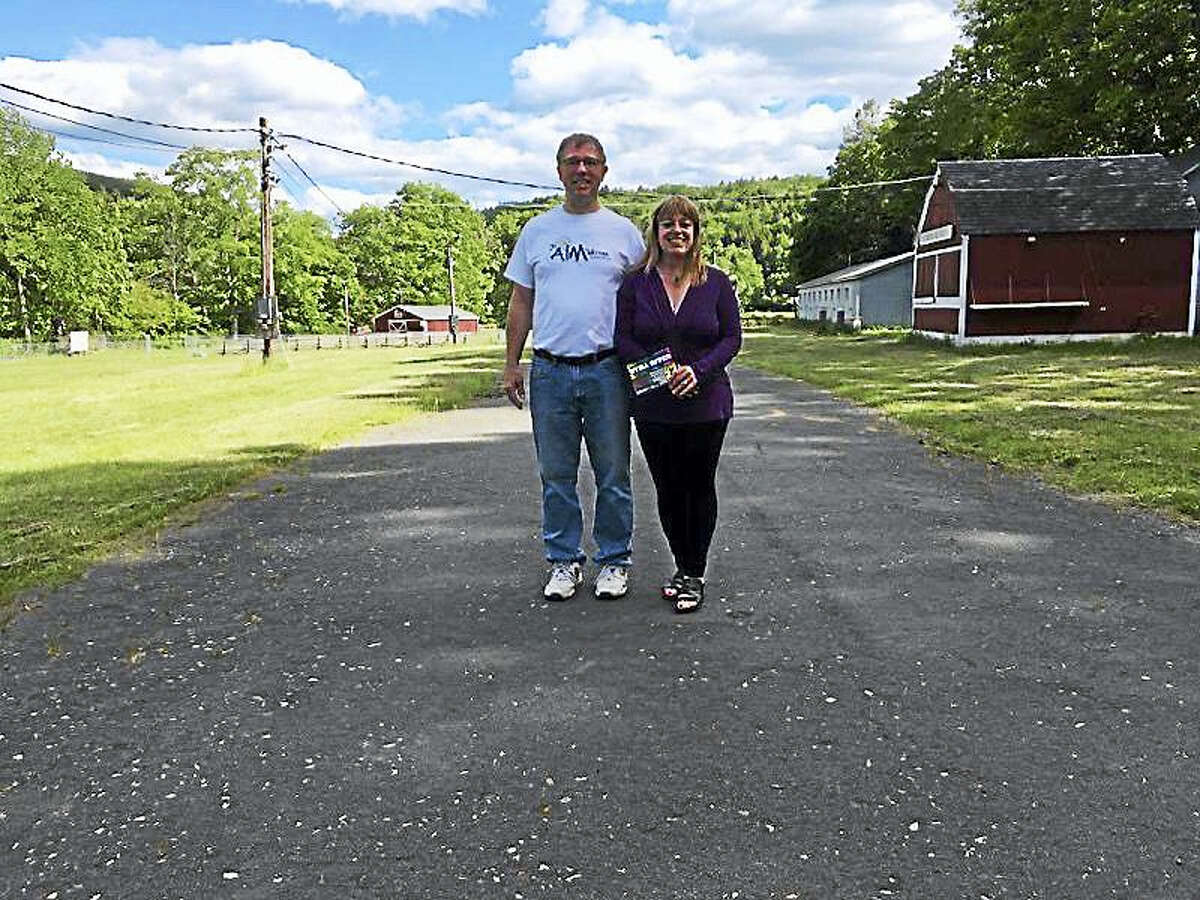 Darcy and Ron Abbott at the Riverton fairgrounds, where the Still River Music Festival will be held on Saturday.