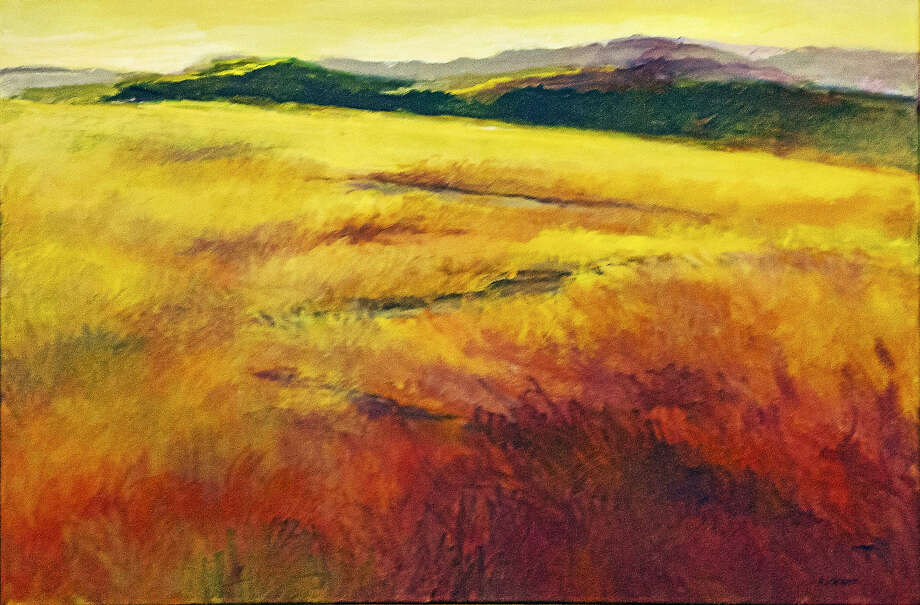 """Autumn Glow,"" acrylic, by Ann Kromer. Photo: Contributed Photo  / Copyright 2013"