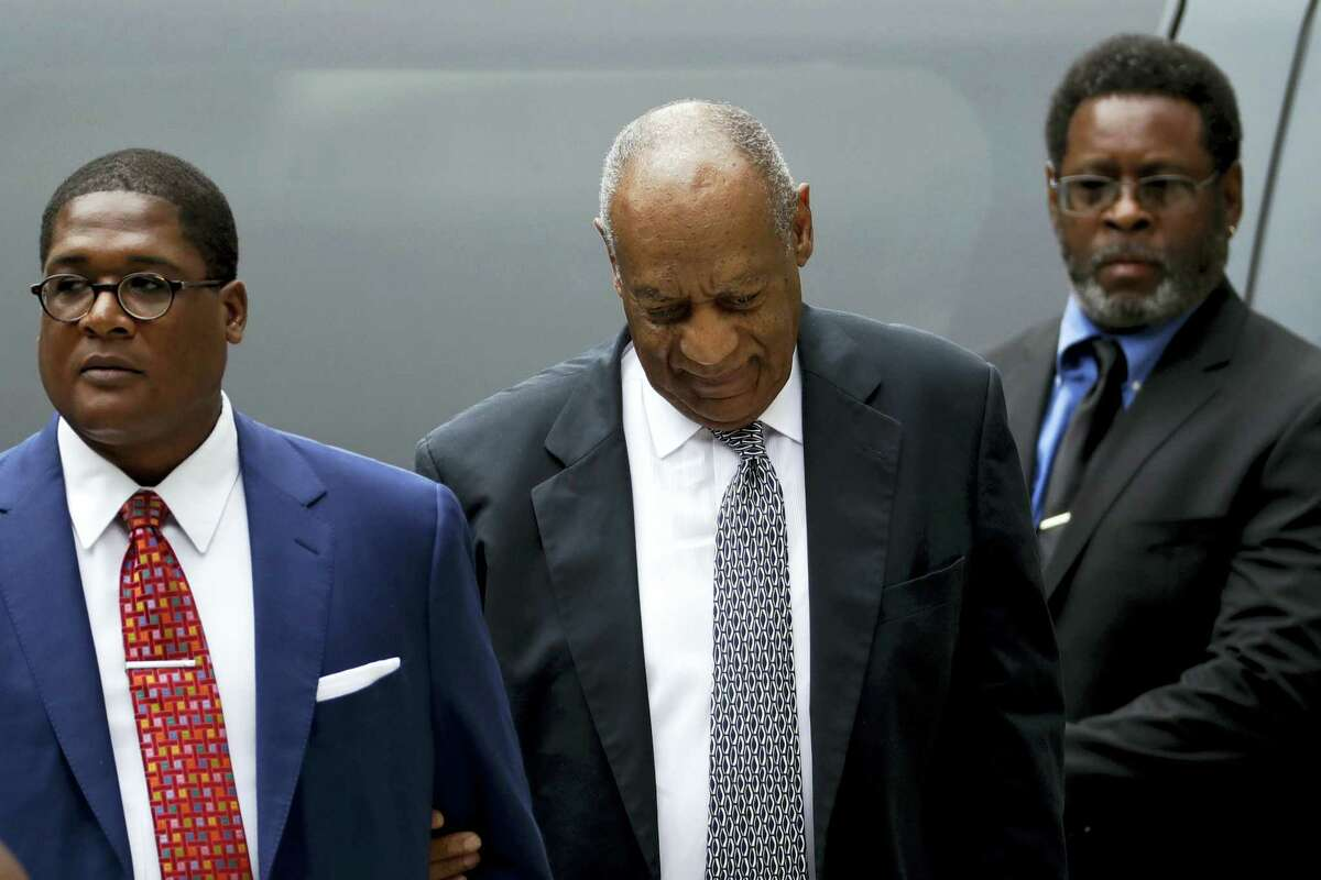 Bill Cosby arrives at the Montgomery County Courthouse during his sexual assault trial, Friday, June 16, 2017, in Norristown, Pa.