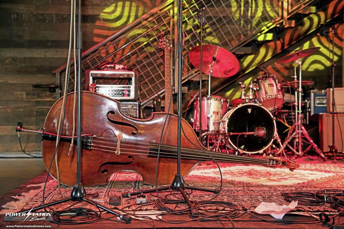 A bass awaits its musician.