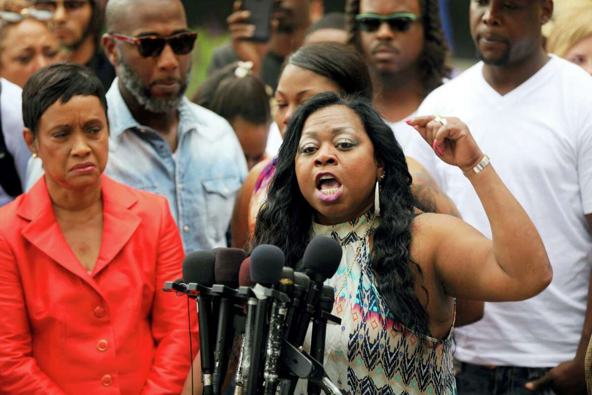 Valerie Castile, mother of Philando Castile, spoke with passion about her reaction to a not guity verdict for Officer Jeronimo Yanez at the Ramsey County Courthouse in St. Paul, Minn., on Friday June 16, 2017.