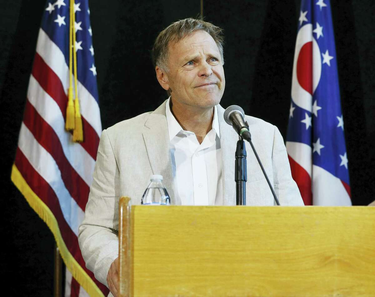 Fred Warmbier, father of Otto Warmbier, a University of Virginia undergraduate student who was imprisoned in North Korea in March 2016, speaks during a news conference, Thursday, June 15, 2017, at Wyoming High School in Cincinnati. Otto Warmbier, serving a 15-year prison term for alleged anti-state acts, was released to his home state of Ohio on Tuesday in a coma.