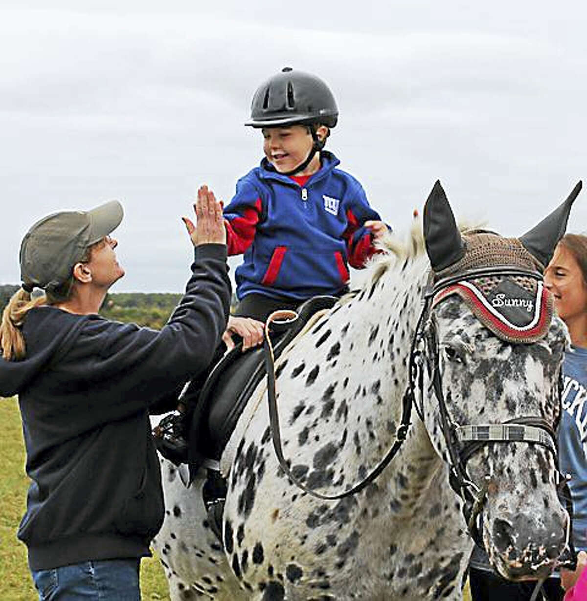 Contributed photos A 5K run/walk to benefit Little Britches, a therapeutic riding program for children and adults, will be held Sunday in Bridgewater.