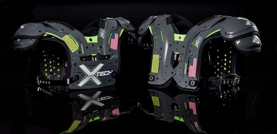 The XTECH pads weigh from 3.5 pounds to 4.2, depending on size and options. They begin at $425 before customizing. Photo: XTECH Protective Equipment / XTECH Protective Equipment