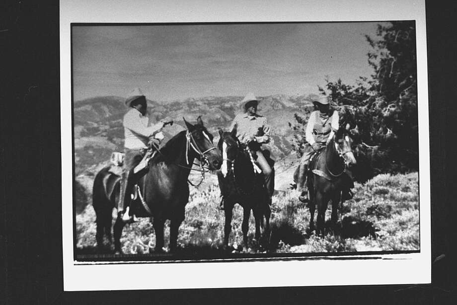 Cecil Andrus was a skilled horseman, and would visit Idaho's national forests atop a horse. Here he is with U.S. Forest Service regional forester John Mumma, on left, Andrus in center, and an unidentified man on horseback while inspecting wildlife and livestock ranges in Idaho.  (Photo by Taro Yamasaki/The LIFE Images Collection/Getty Images) Photo: Taro Yamasaki/The LIFE Images Collection/Getty