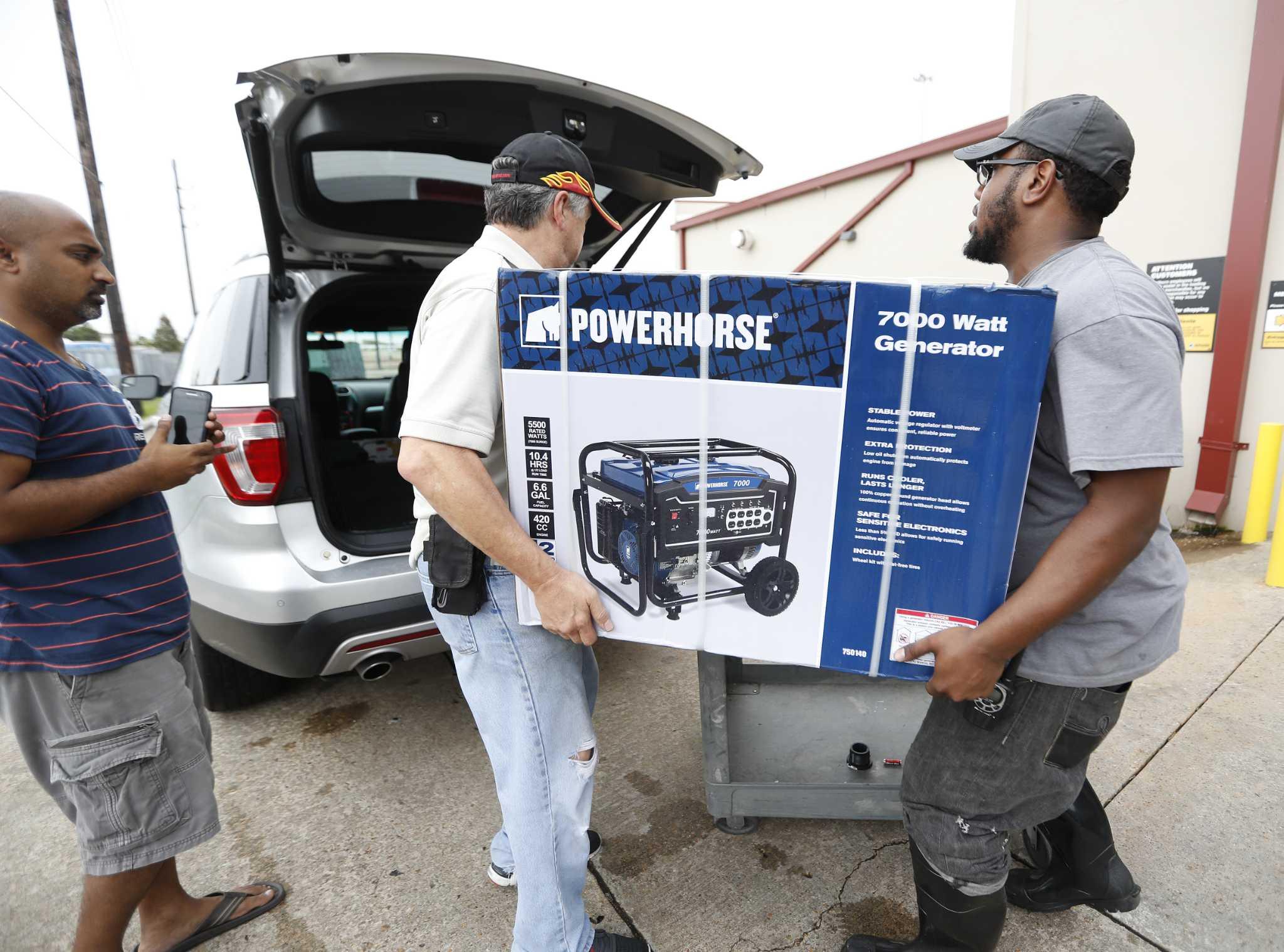 hurricane harvey generates extra generator shipments for