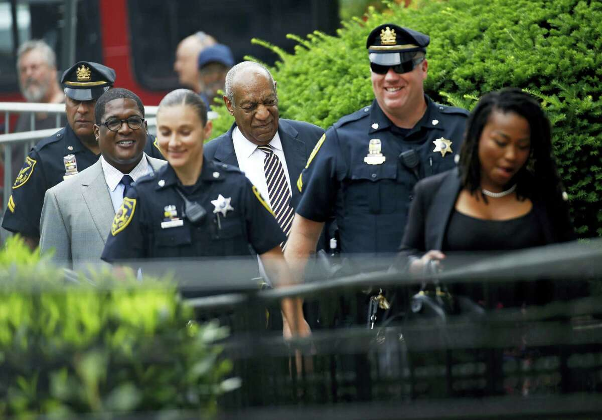Bill Cosby arrives for jury deliberations in his sexual assault trial at the Montgomery County Courthouse in Norristown, Pa., Wednesday, June 14, 2017.