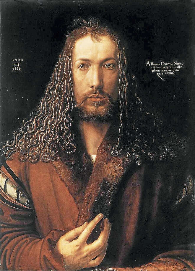Durer's self portrait. Photo: Contributed Photo
