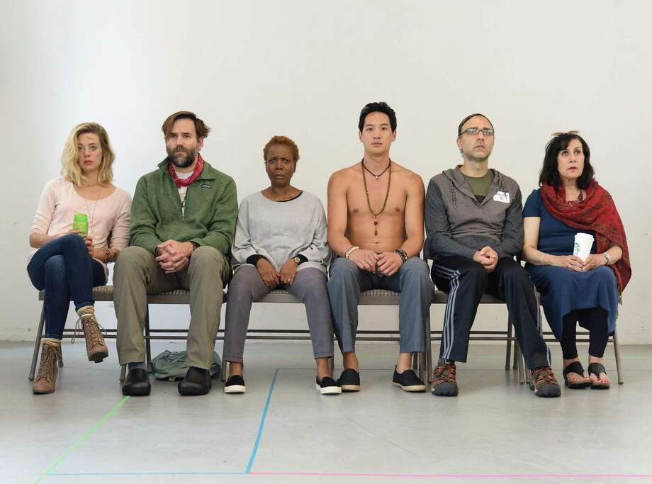 """""""Small Mouth Sounds"""" will be on stage at Long Wharf Theatre through Sunday, Sept. 24. Cast includes Brenna Palughi, left, Connor Barrett, Cherene Snow, Edward Chin-Lyn, Ben Beckley and Socorro Santiago. Photo: Ben Arons Photography / Contributed Photo / © 2016 Ben Arons Photography"""